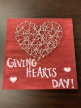 Giving Hearts Day String Art
